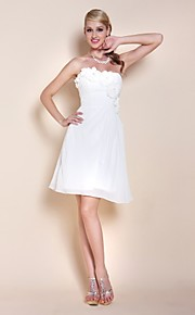 TS Couture Cocktail Party Graduation Dress - Short A-line Princess Strapless Sweetheart Knee-length Chiffon withBeading Flower(s) Side