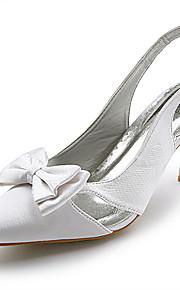 topkwaliteit satijn bovenste hoge hak slingback huwelijk bruids shoes.more kleuren beschikbaar