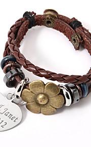 Legering/Leer Heren/Unisex/Dames Gepersonaliseerde Armbanden Geen Steen