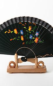 Spanish Style Dark Green Hand Fan (Set of 4)