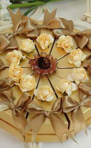 imposante boîte de faveur or gâteau (jeu de 10)