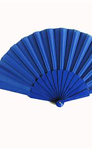 royaux ventilateurs bleus main en soie (jeu de 6)