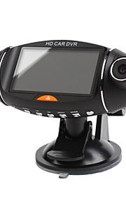 1280x480 da 2,7 pollici auto dvr display con doppia fotocamera, la visione notturna