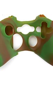 beschermende dual-color siliconen case voor de Xbox 360 controller (bruin en groen)