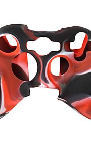 beschermende dual-color siliconen case voor de Xbox 360 controller (zwart en rood)