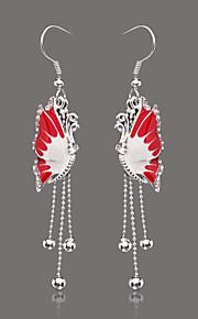 unieke zilveren legering strass oorbellen (meer kleuren)