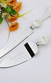 Serving Sets Wedding Cake Knife Personalized Flowers  Cake Serving Set In Resin Handle