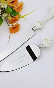 ensembles servant mariage couteau à gâteau personnalisé gâteau de fleurs Ensemble de service dans la poignée de résine