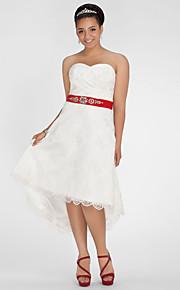 Lanting Bride® Trapèze / Princesse Petites Tailles / Grandes Tailles Robe de Mariage - Chic & Moderne / RéceptionColorées / Petites