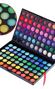 120 Oogschaduwpalet Mat / Glinstering Oogschaduw palet Poeder Normaal Feestelijke make-up