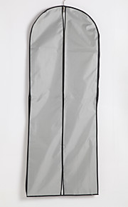 Two Layers Waterproof Cotton / Tulle Center Zip Gown Length Garment Bag