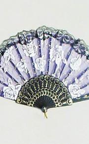 ventilateur de main classique avec Rose Patten - jeu de 4 - (plus de couleurs)