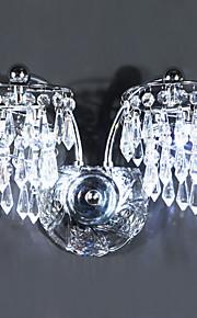 Contemporaines en cristal Appliques avec 4 lumières LED Chrome finis