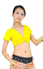 Belly Dance Tops Women's Training Mercerized Cotton Black / Blue / Fuchsia / Orange / Pink / Purple / Red / Yellow Belly DanceSpring /