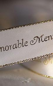 personnalisé gamme de décoration de mariage or ruban - 100 mètres par rouleau (plus de couleurs, plus de largeur)