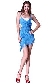 dancewear polyester met lovertjes prestaties latin dans jurk voor dames meer kleuren