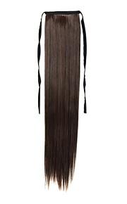 22 inch 1 stuk kastanje bruine paardenstaart hair extensions