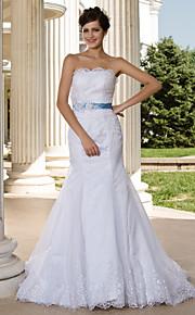 Lanting Bride® Trompette / Sirène Petites Tailles / Grandes Tailles Robe de Mariage - Classique & Intemporel / Chic & Moderne Transparent