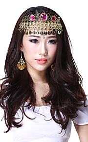 Ydelse Dancewear Alloy med tre røde Gems Belly Dance Headpiece til damer Flere farver