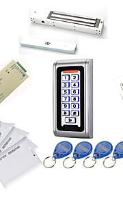 Metal Vandtæt Access Controller Kits (Magnetic Lock 280 kg, 10 EM-ID-kort, Power Supply)