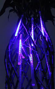 30cm Festival Dekor Blå LED Meteor Rain Lights for Christmas Party (8-Pack, 110-220V)