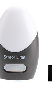 Infrarød sensor hvitt lys LED Night Lampe (3xAA)