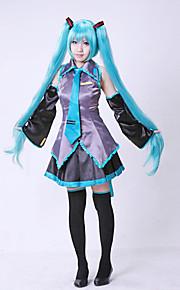 vocaloid Hatsune Miku cosplay kostyme uten parykk