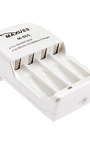 MaXuSS Snellader voor 4 x AA AAA NI-MH Ni-Cd batterij