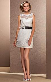 Lanting Bride® Fourreau / Colonne Petites Tailles / Grandes Tailles Robe de Mariage - Chic & Moderne / Réception Petites Robes Blanches