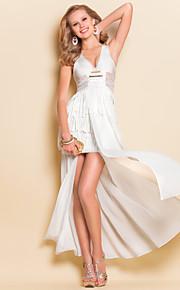 TS Deep V Split Dress , Nylon/Rayon Maxi Sleeveless