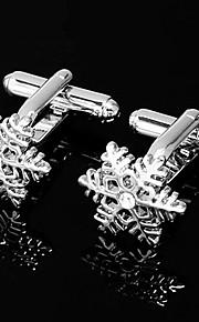 Gift Groomsman Pretty Snow Desogn Cufflinks