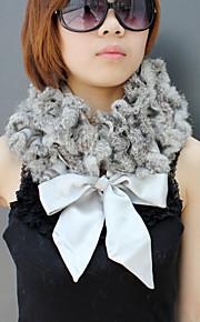elegante konijnenbont feest / avond sjaal met strik