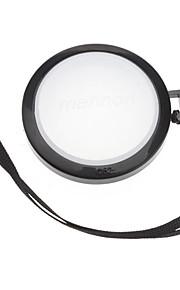 Mennon Cámara 52mm lente Balance de blancos Tapa Cubierta con correa de mano (Negro y Blanco)