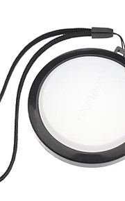 MENNON 62mm kamera Hvidbalance Objektivdæksel Cover med Håndrem (Black & White)