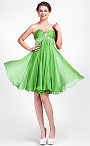 TS Couture® Cocktail Party /  Dress - Clover Plus Sizes / Petite A-line / Princess Halter / Sweetheart Knee-length Chiffon
