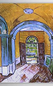 Famous Oil Painting the-entrance-hall-of-saint-paul-hospital by Van Gogh