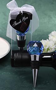 cristal bleu bouchon de vin boule