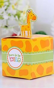 søt giraffe baby dusj favør boksen (sett med 12)