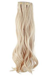 Hoge kwaliteit kunststof 45 cm Clip-In Silky Wavy Hair Extension 6 kleuren te kiezen