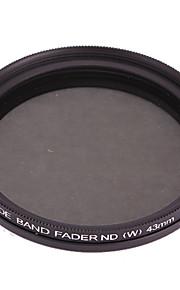 Fotga 43mm delgado Fader filtro ND de densidad neutra ajustable Variable ND2 a ND400