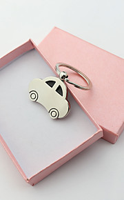 Personalized Engraved Gift Sedan Car Shape Keychains(Set of 6)