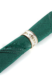 Sæt med 4 Moderne Grøn Polyester Servietter