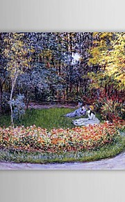 Célèbre peinture à l'huile dans le jardin par Claude Monet