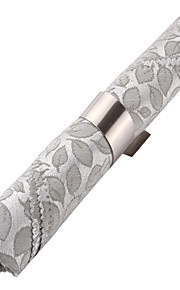 Sæt med 4 Modern Leaves Mønster Polyester Servietter