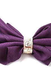 Sæt med 4 Purple Floral Polyester Servietter