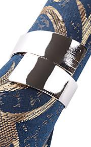 Sæt med 4 blåt mønster Polyester Servietter