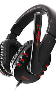 Somic G923 on-ear hoofdtelefoon met microfoon, afstandsbediening voor pc