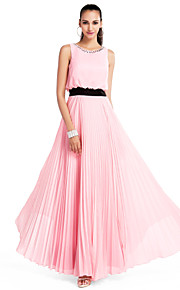 TS Couture® Formal Evening / Prom / Military Ball / Wedding Party Dress - Candy Pink Plus Sizes / Petite A-line / Princess Jewel Floor-length Chiffon