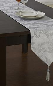 klassiske polyester Jacquard blomstret stykke farvestof bordløbere