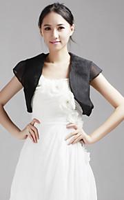 tule met korte mouwen bruiloft / speciale gelegenheid avond jas (meer kleuren) bolero schouderophalen
